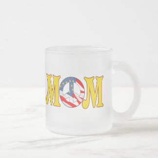 Peace T-shirts and Gifts For Mom Frosted Glass Coffee Mug