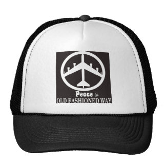 Peace the Old Fashioned Way Trucker Hat