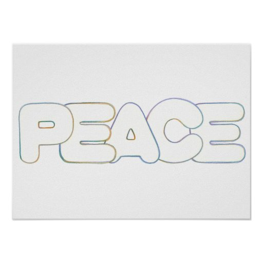 Peace The Word Poster Zazzle