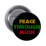 Peace Through Music 2 Inch Round Button