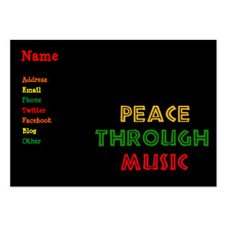 Peace Through Music Large Business Cards (Pack Of 100)