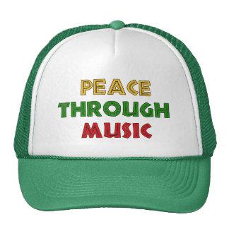 Peace Through Music Mesh Hats