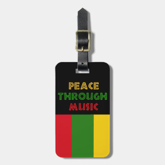 Peace Through Music Tags For Luggage