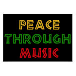 Peace Through Music Poster