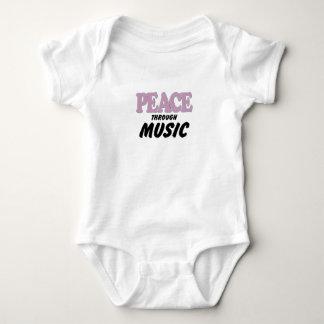 Peace Through Music (purple) Baby Bodysuit
