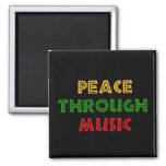 Peace Through Music Refrigerator Magnets