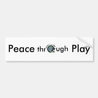 Peace through Play Bumper Sticker