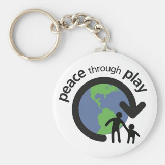 Peace through Play Keychain