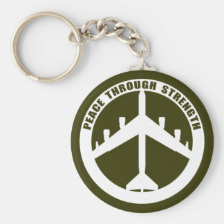 Peace Through Strength Basic Round Button Keychain