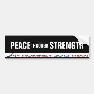 Peace through Strength Bumper Sticker