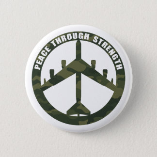 Peace Through Strength Button