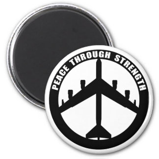 Peace Through Strength Magnet