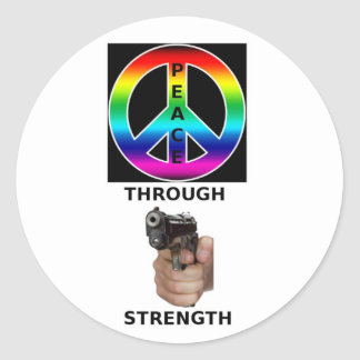 PEACE THROUGH STRENGTH PRODUCTS STICKERS