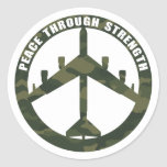 Peace Through Strength Stickers