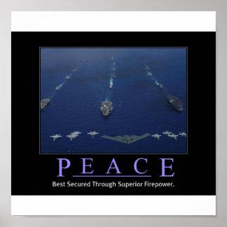 PEACE Through Superior Firepower Poster