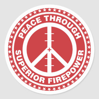 Peace Through Superior Firepower - Red Sticker