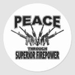 Peace Through Superior Firepower Stickers