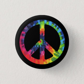 Peace Tie-dye Button