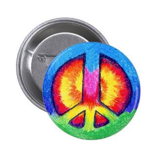 Peace Tie~Dye Pinback Button