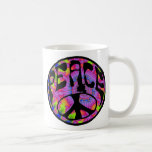 Peace - Tie Dyed Background Coffee Mug