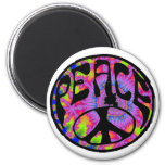 Peace - Tie Dyed Background Fridge Magnets
