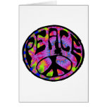 Peace - Tie Dyed Background Greeting Cards