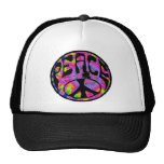 Peace - Tie Dyed Background Mesh Hats