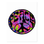 Peace - Tie Dyed Background Post Cards