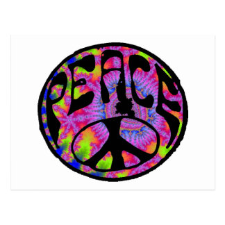 Peace - Tie Dyed Background Postcard