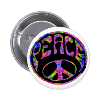 Peace - Tie Dyed Foreground Pinback Button