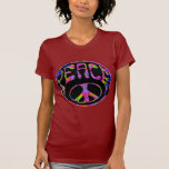 Peace - Tie Dyed Foreground Tee Shirt