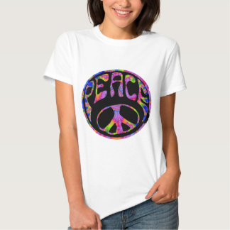Peace - Tie Dyed Foreground Tees