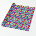 Peace tie dyed gift wrapping paper