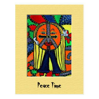 PeAcE tImE Colorful Postcard
