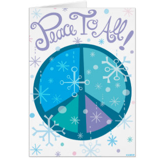 Peace to all! Holiday Greeting car... - Customized Greeting Cards