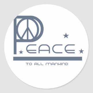 Peace to all Mankind T-shirts and Gifts Classic Round Sticker