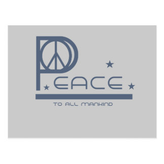 Peace to all Mankind T-shirts and Gifts Postcard