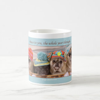 Peace to You Winter Pug Mug by Pugs and Kisses