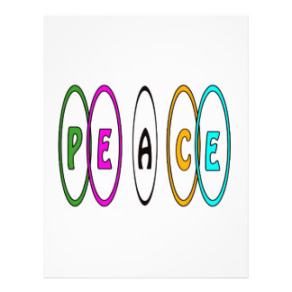Peace Together Personalized Letterhead