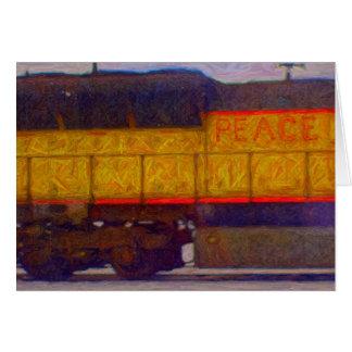 Peace Train Holiday Card