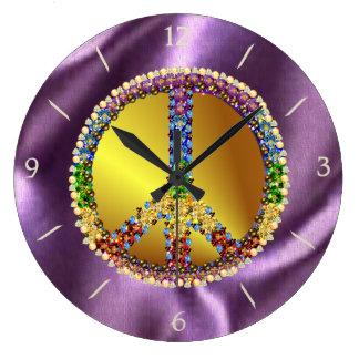 Peace Treasure Large Clock