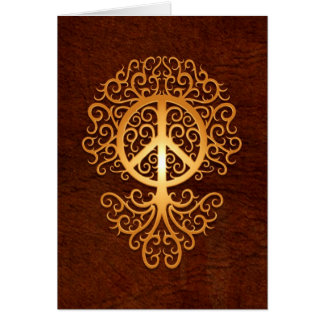 Peace Tree, brown Card