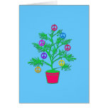 Peace Tree Holiday Tree with Peace Symbols Card