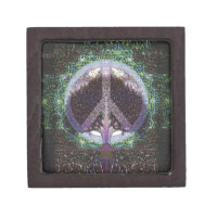 Peace Tree Mandala Heart Keepsake Box