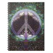 Peace Tree Mandala Heart Spiral Notebook (<em>$13.70</em>)