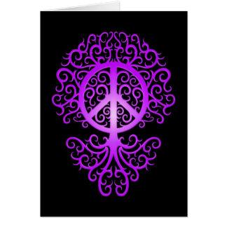 Peace Tree, purple and black Cards