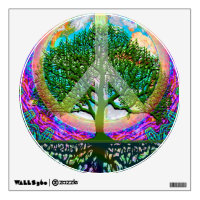 Peace Tree Rainbow Wall Sticker