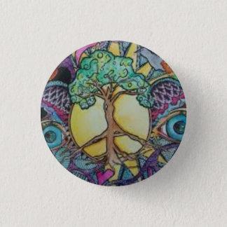 Peace Tree Round Button