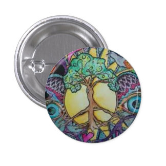 Peace Tree Round Button