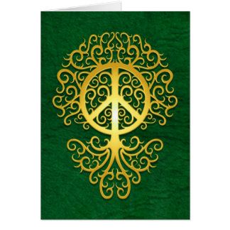 Peace Tree, yellow and green Card